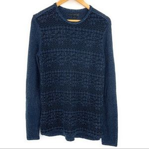 John Vavartos Navy Knit Sweater